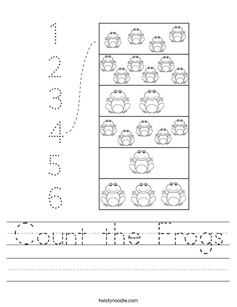 Count the Frogs Worksheet