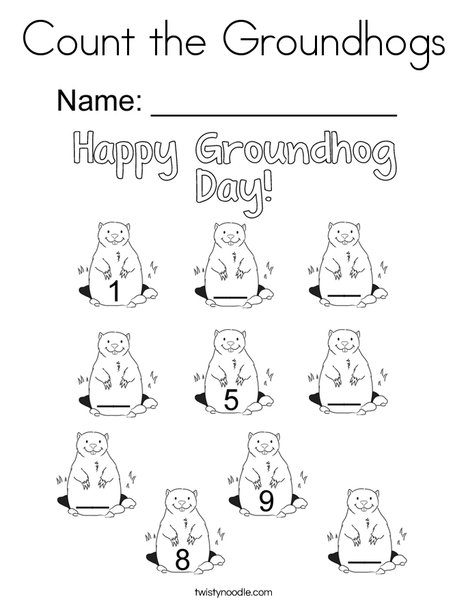 ground hog coloring sheets