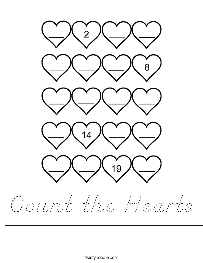Count the Hearts Worksheet