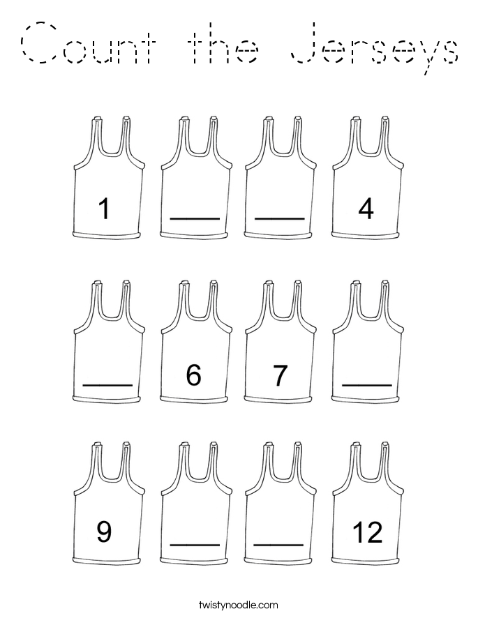 Count the Jerseys Coloring Page