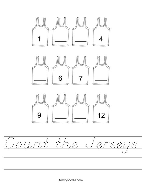 Count the Jerseys Worksheet