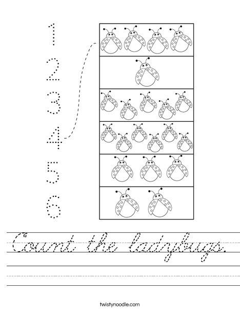 Count the Ladybugs Worksheet