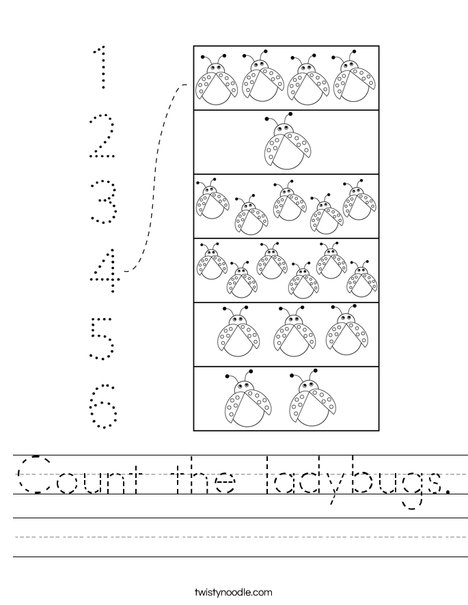Count the Ladybugs Worksheet