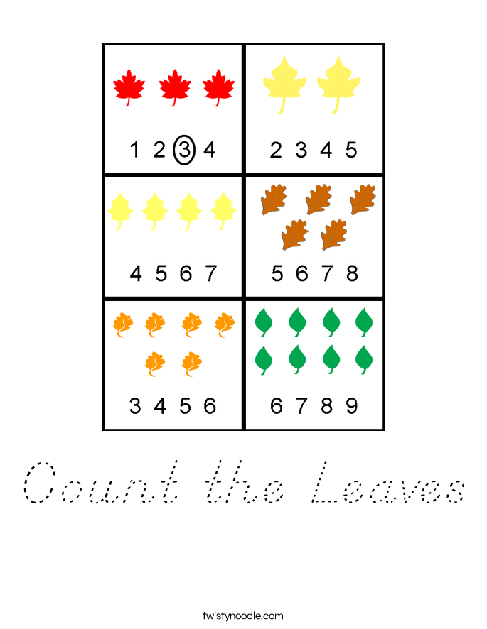 Count the Leaves Worksheet