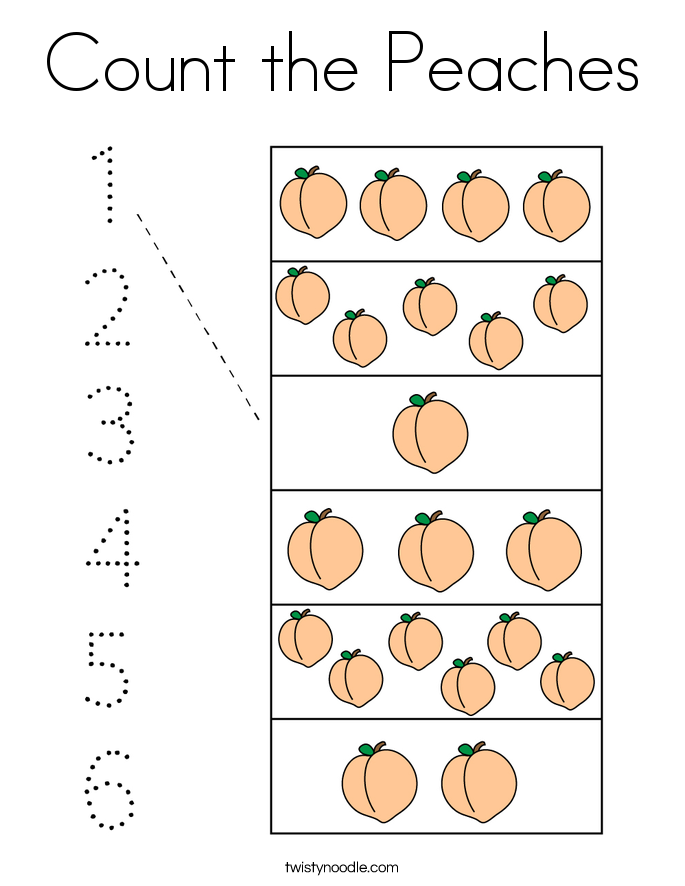 Count the Peaches Coloring Page