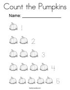 Count the Pumpkins Coloring Page
