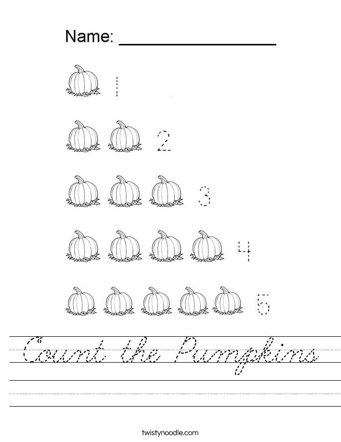 Count the Pumpkins Worksheet