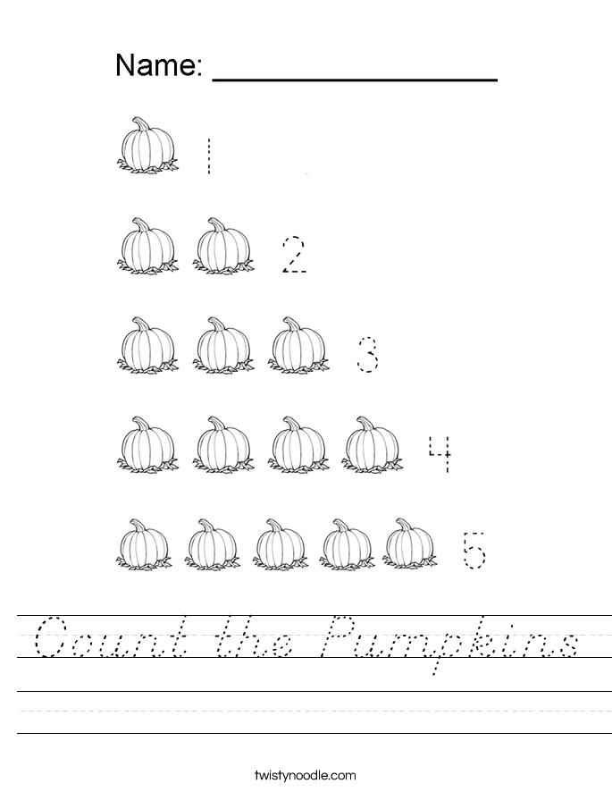 Count the Pumpkins Worksheet