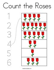 Count the Roses Coloring Page