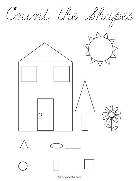 Count the Shapes Coloring Page