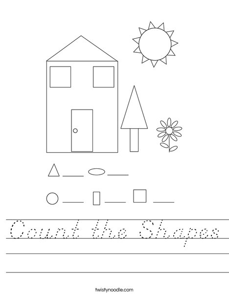 Count the Shapes Worksheet