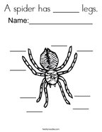 A spider has ______ legs Coloring Page