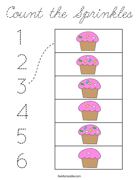 Count the Sprinkles Coloring Page