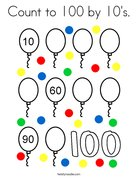 Count to 100 by 10's. Coloring Page