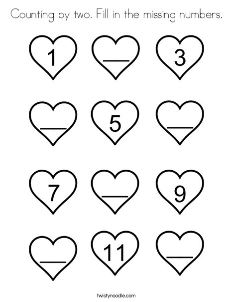 Fill In The Missing Numbers. Coloring Page