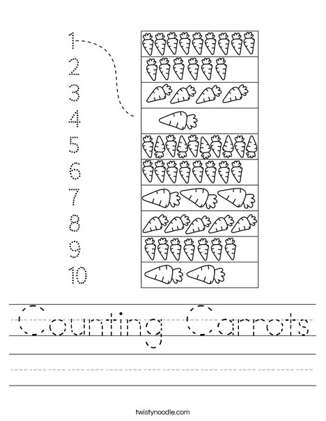Counting Carrots Worksheet