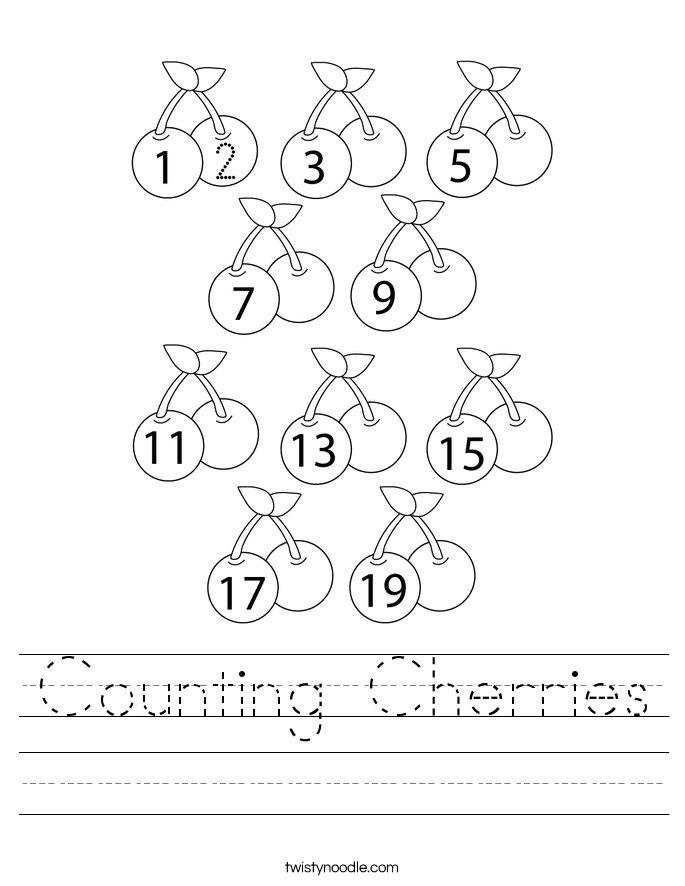 Counting Cherries Worksheet