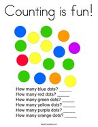 Counting is fun Coloring Page