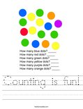 Counting is fun! Worksheet