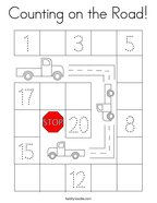Counting on the Road Coloring Page