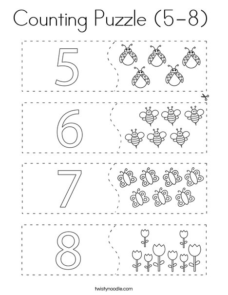 Counting Puzzle (5-8 Coloring Page