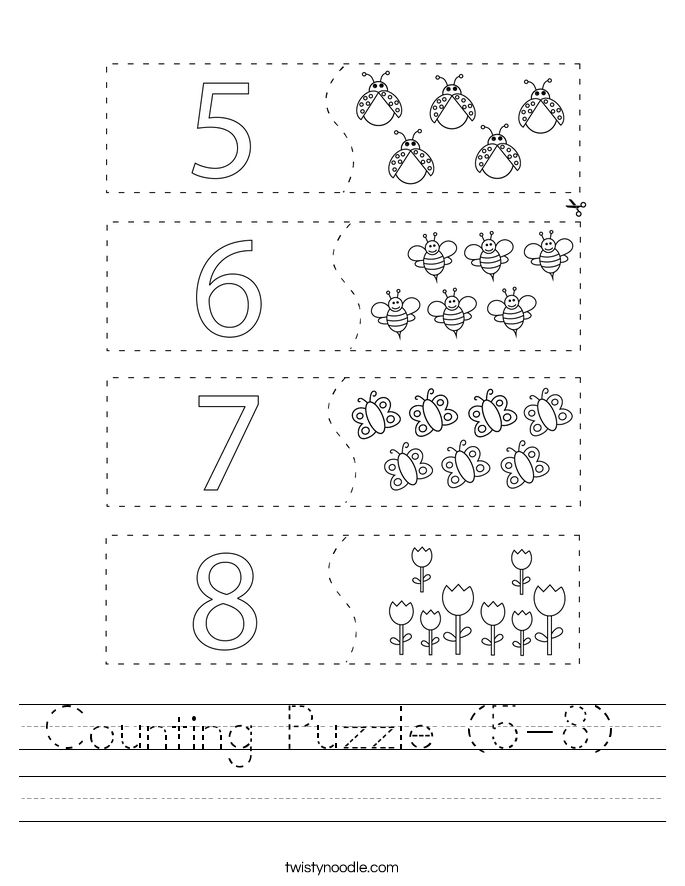 Counting Puzzle (5-8)  Worksheet