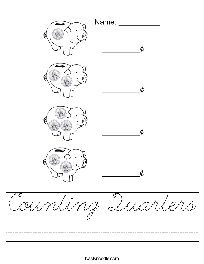 Counting Quarters Worksheet