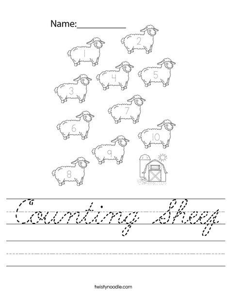 Counting Sheep Worksheet