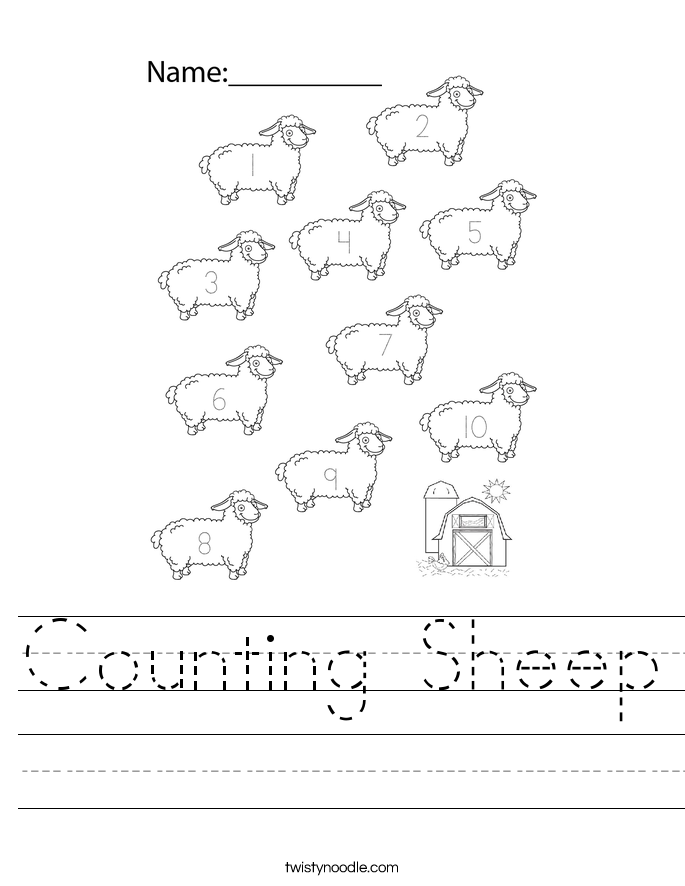 Counting Sheep Worksheet