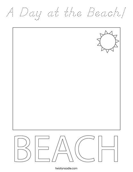 Couple at the Beach Coloring Page