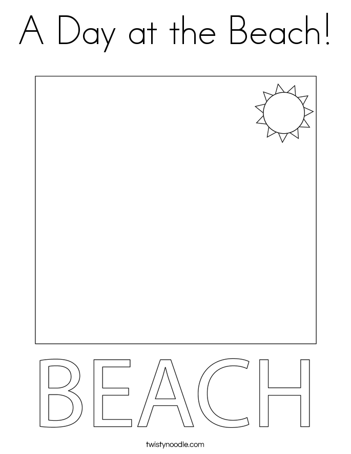 Elegant A Day At The Beach Coloring Page With Pages