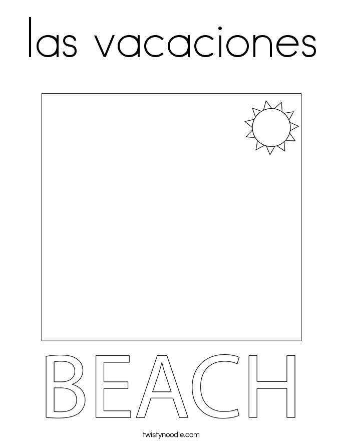 las vacaciones Coloring Page