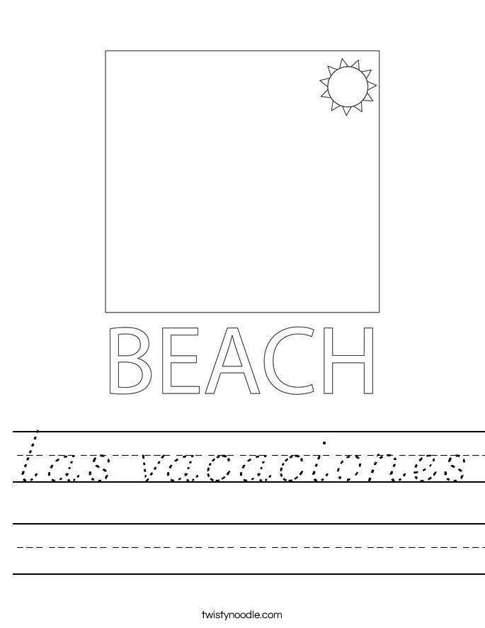 las vacaciones Worksheet