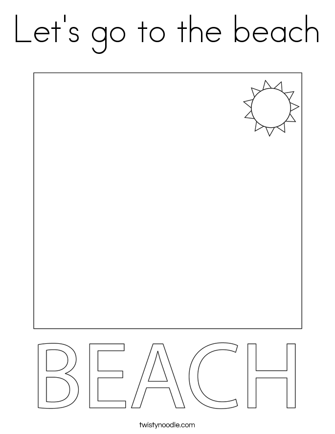 Let's go to the beach Coloring Page