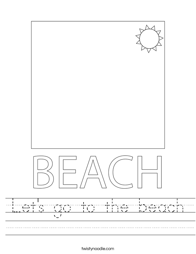 Let's go to the beach Worksheet
