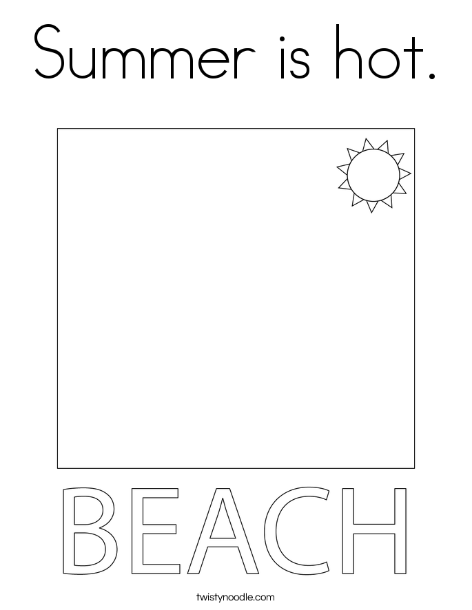 Summer is hot. Coloring Page