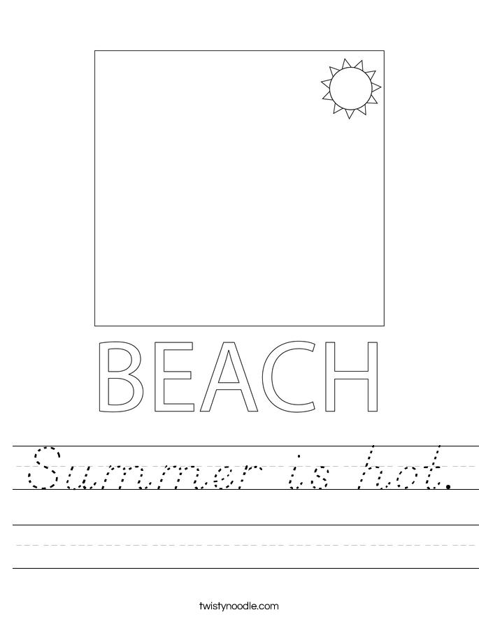 Summer is hot. Worksheet