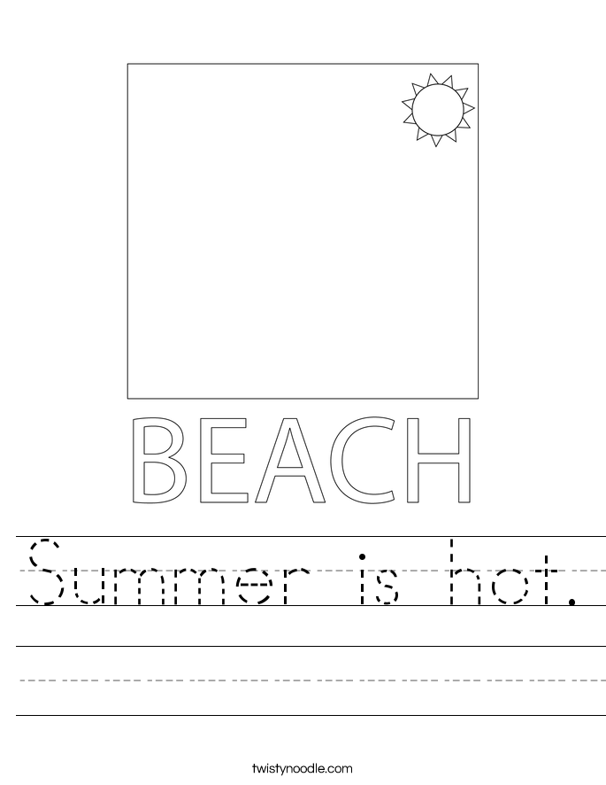 Summer is hot. Worksheet
