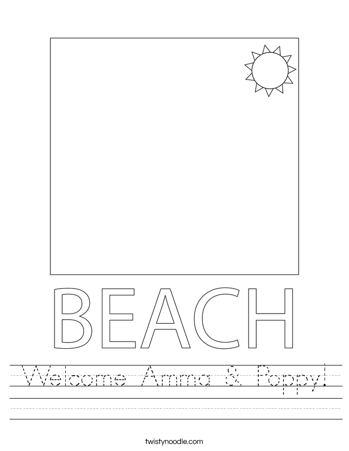 Welcome Amma & Poppy! Worksheet