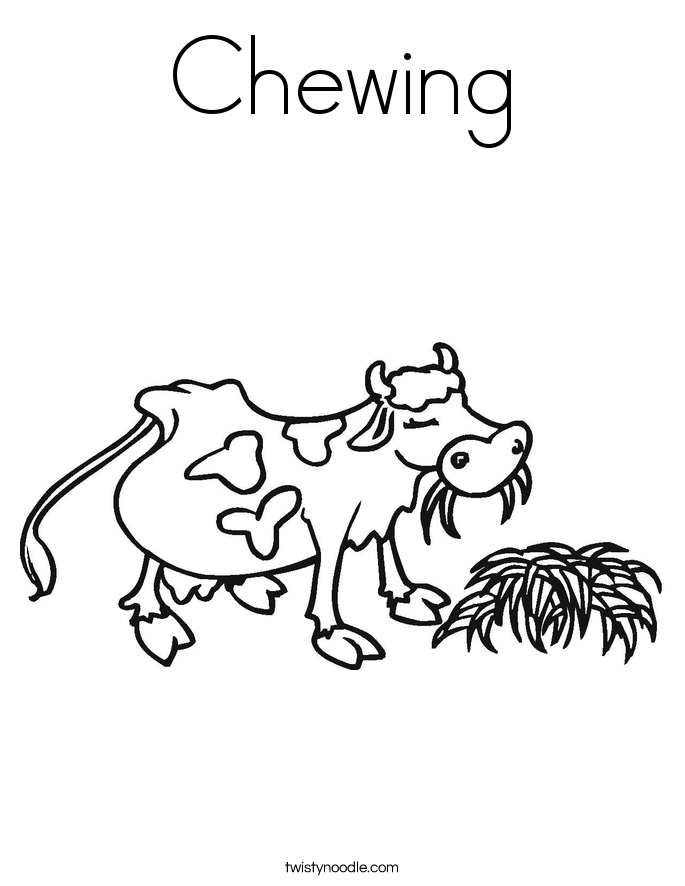 Chewing Coloring Page