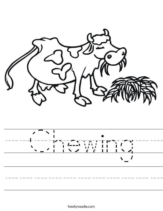 Chewing Worksheet