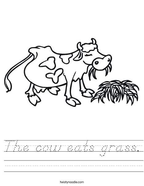 Cow Chewing Worksheet