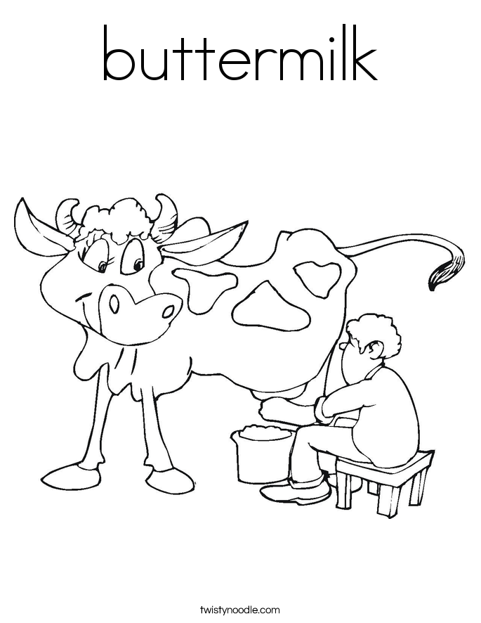 buttermilk Coloring Page