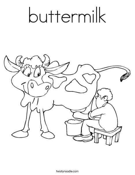 Cow being Milked Coloring Page