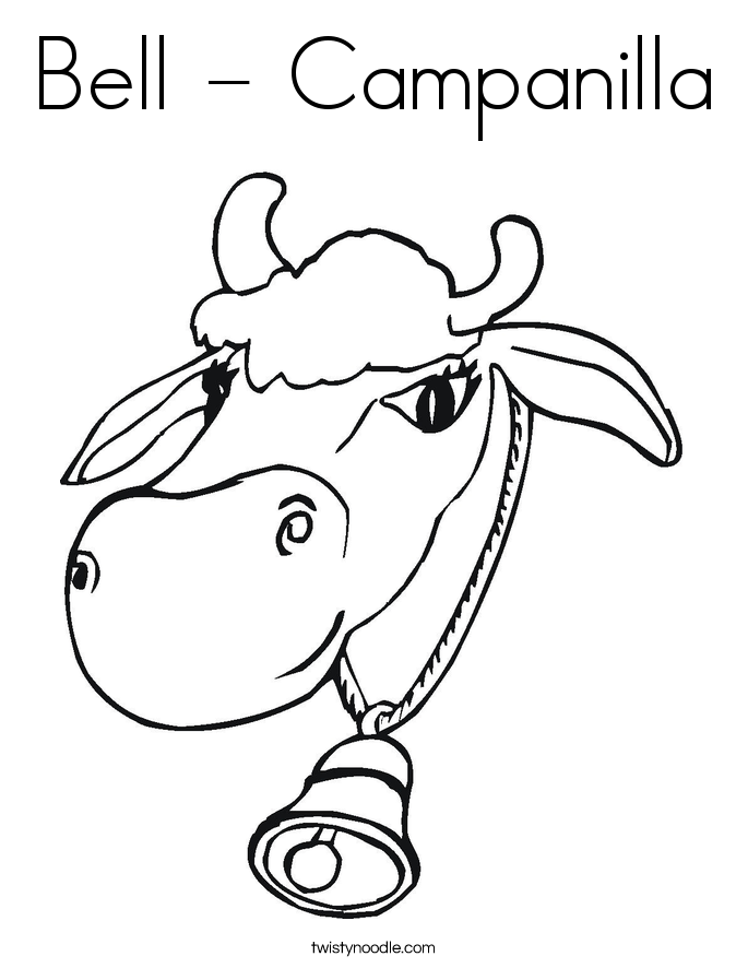 Bell - Campanilla Coloring Page