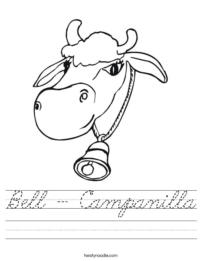 Bell - Campanilla Worksheet