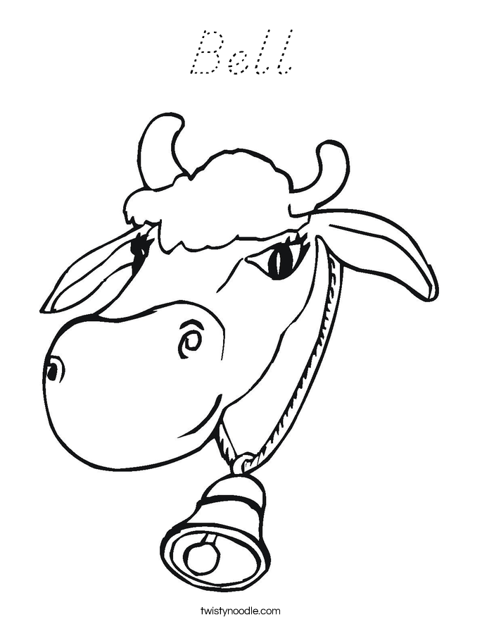 Bell Coloring Page