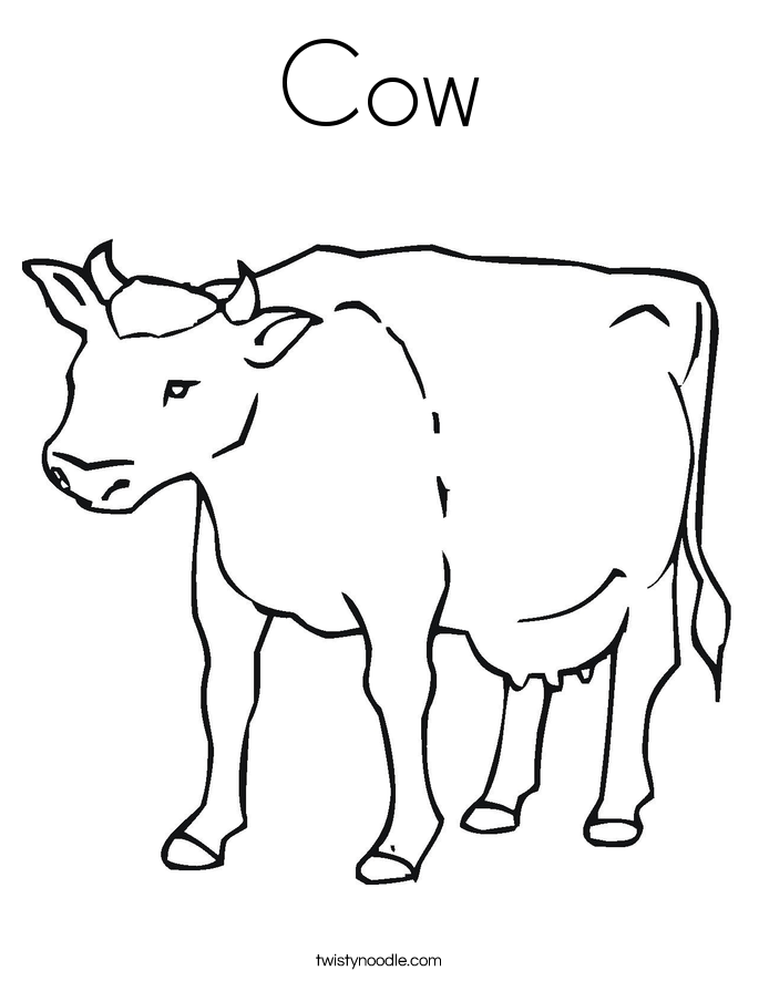 Cow Coloring Page - Twisty Noodle