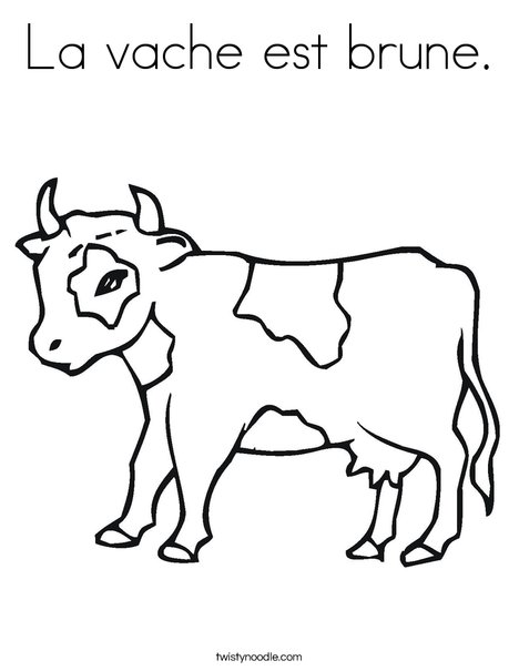 Calf Coloring Page