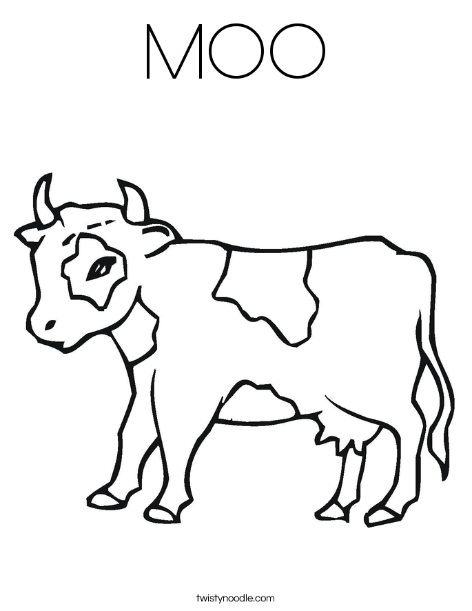 MOO Coloring Page